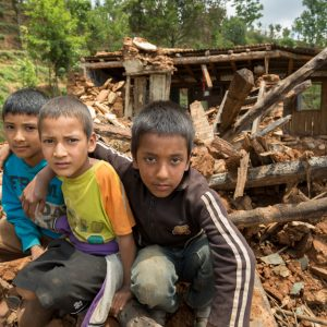 Children affected due to natural disaster