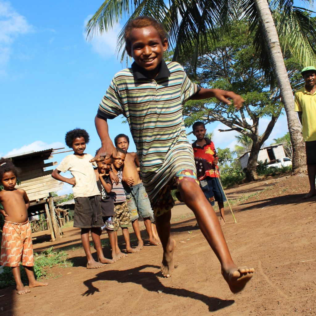 Children running, Papua New Guinea