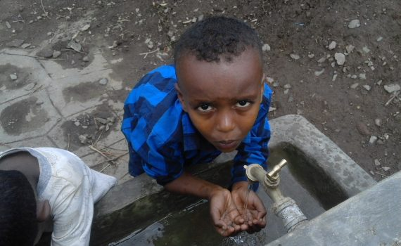 Yonatal's school in Ethiopia has water thanks to his sponsor
