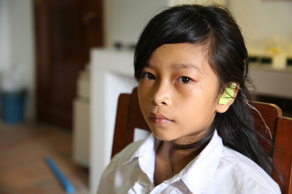 Socheata can hear in class thanks to ChildFund Cambodia